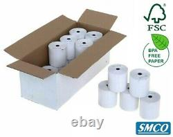 160 TILL ROLLS Thermal Paper 57mm x 50mm RECEIPT PAPER BPA Free R108 By SMCO