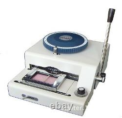 2 in 1 80CE 80 Manual PVC ID Credit Card Embossing & Indenting Embosser Machine