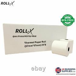 20-200 Roll-X BPA Free Thermal Cash Register Till Rolls Chip & Pin PDQ 57mmx57mm