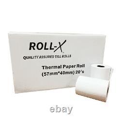 20-500 57x40mm Roll-X Branded Thermal Till Rolls Chip & Pin BPA FREE