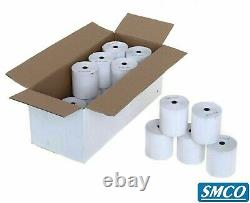 200 CREDIT CARD ROLLS 57 x 40 mm 12.7mm R130 SUPERIOR GRADE BPA Free PAPER SMCO
