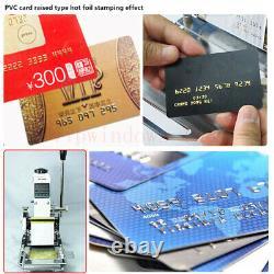 220V Hot Foil Stamping Machine PVC Credit Card Embosser Leather Bronzing On Sale