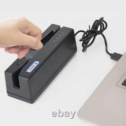 3 Track MSR909 Magnetic Stripe Card Reader Writer Swipe Credit & Debit Card USB