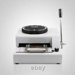 72 Character Manual Embossing Printer Credit Card/ID/VIP/PVC Embosser Machine
