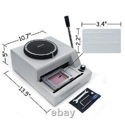 72-Character Manual Stamping Machine PVC/ID/Credit Card Embosser Code Printer