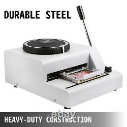 72-Character PVC Card Stamping Machine Credit ID VIP Magnetic Embossing Emboss