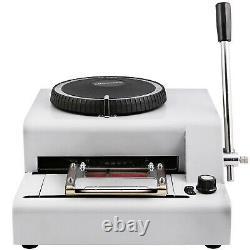 72 Letter Manual Embosser Machine PVC Gift Card Credit ID VIP Embossing Magnetic