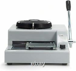 72 characters manual embossing machine credit card PVC card stamping machine