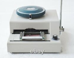 80 Characters Convex Embosser Manual PVC ID Credit Card Embossing Machine Y