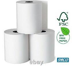 80 TILL ROLLS 57mm x 57mm THERMAL PAPER Cash Register Receipt Printer BPA FREE