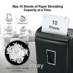 Bonsaii 10-Sheet Cross-Cut Paper and Credit Card Shredder Machine, 21-Litre