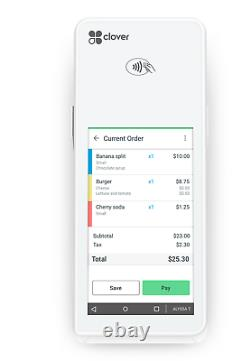 Clover Flex Handheld POS System with LTE + Wireless Connect Any Merchant Account