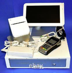 Clover Station 1.0 C101 POS System Cash Drawer D100 + Printer & FD40 Card Reader