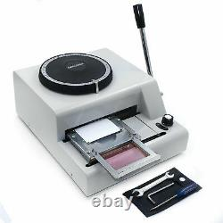Credit Card Embosser 72-Character Manual PVC/ID/ Code Printer Stamping Machine