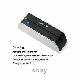 Deftun MSR X6(BT) MSRX6BT Bluetooth Magnetic Credit Card Reader Write Swipe E