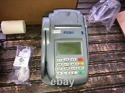 First Data Credit Card Terminal & Check Reader in Original Box