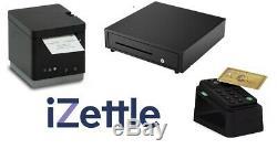 IZettle 2 inch Bluetooth Receipt Printer & Cash Drawer & Card Reader & Desk Dock