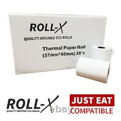 Just Eat Compatible Roll-X Thermal Till Rolls (57x40) BPA FREE
