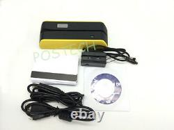 MSR09 x6 Magnetic Strip Swipe Credit Card Reader Writer Yellow & Mini300 Bundle