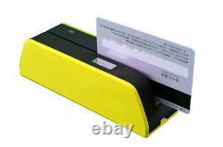 Magnetic Stripe Card Mini MSR09 X6 EncoderReader Writer C/MSRE206/605 USB Yellow