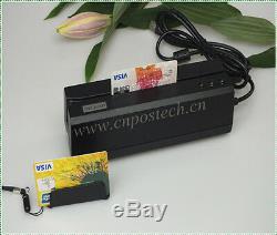 Magnetic Stripe MSRE206 Writer & Mini300 Reader Credit ID Card Bundle Collector