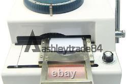 Manual 68 Letter Stamping Machine PVC ID Credit VIP Card Embosser Code Printer