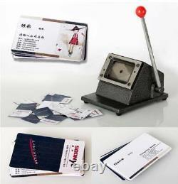 Manual PVC Business ID Name Credit Card Cutter Machine 1mm Metal Base 86 X 54mm