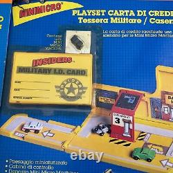 Micro Machines, Galoob, Insiders, Credit Card Playset LOT 5 pieces lotto sealed