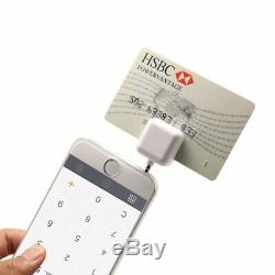 New Jack Mini Magnetic Credit Card Reader for Apple and Android -White