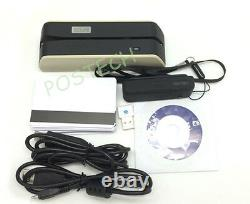 New MSR X6 +MINI400B DX4B USB-Powered Smallest Magnetic Encoder Writer Grey
