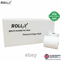 ROLL-X 57x70mm PDQ & THERMAL BPA FREE TILL ROLLS, 10-200 ROLLS, QUALITY ASSURED
