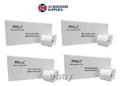 ROLL-X BPA FREE 100 ROLLS CREDIT CARD PDQ & TILL THERMAL PAPER ROLL-X 80x80