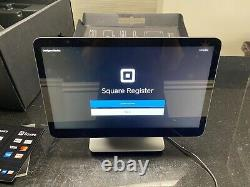 Square Register With Dual Screen. Never Used. Excellent Condition