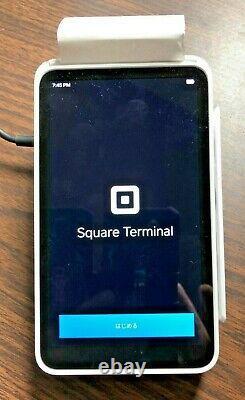 Square Terminal A-SKU-0584, Credit Card Machine, +19 rolls of Paper & Hard Case