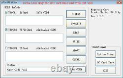 Tracks 1,2,3 EMV Smart IC Chip Card & Magnetic Stripe Card Reader Writer Encoder