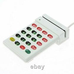 USB Magnetic Stripe Card Reader Credit Card with Numeric Keypad POS