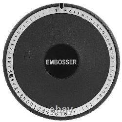 VEVOR 72 Character Embossing Machine Embosser Adjustable PVC Credit ID Card US