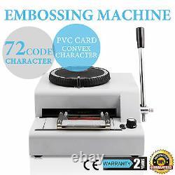 VEVOR 72-Character Manual Stamp Embossing Machine Embosser for Credit PVC Card