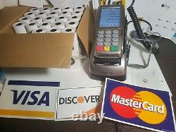 VeriFone VX820 POS Credit /Debit Card Interact Machine & Duet Base Kit-SEE VIDEO