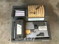 Vintage Addressograph Newbold Manual Credit Card Imprint Machine