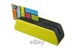 Yellow MSR09X6 Magnetic Magnetic Strip Credit Card Reader Writer Encoder MSRE206