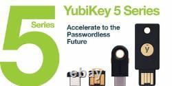 Yubikey 5, 5c, 5 Nano, 5c Nano, 5 NFC, 5Ci Dongles USB UK