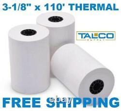 (150) Fd-100 3-1/8 X 110' Papier À Reçu Thermique Roule Rapidement Livraison Gratuite