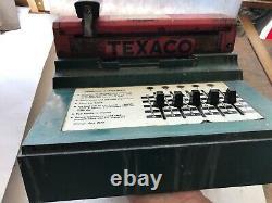 1950 Vintage Texaco Farrington Carte De Crédit Machine