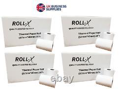 20-500 57x40mm Roll-x Branded Thermal Till Rolls Chip & Pin Bpa Gratuit