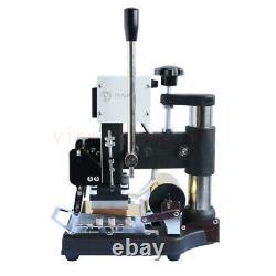 220v Hot Foil Stamping Machine Pvc Carte De Crédit Embosser Bronzer En Cuir En Vente