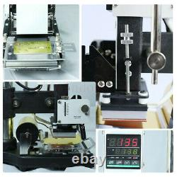 220v Hot Foil Stamping Machine Pvc Credit Card Tipper Leather Embossing On Sale