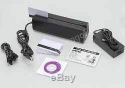 3 Titres Msre206 Magnétique Carte Withreader & Mini300 Portable Reader Données Collecter