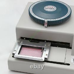 68 Caractères Carte Pvc Embosseuse Machine À Embosser ID Emboutissage Credit Card Vip