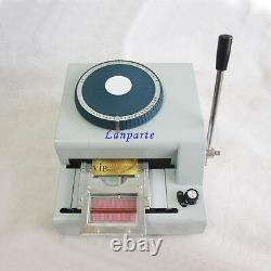 68-letters Pvc Card Embosser Manuel Carte De Crédit Vip Carte-cadeau Embossing Machine